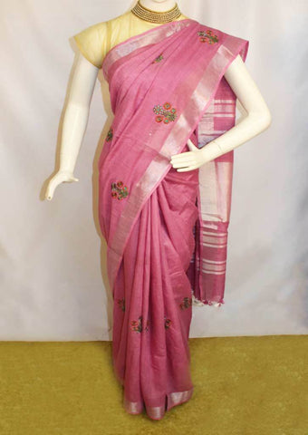 Light Violet Linen  Saree - FO44861 ARRS Silks