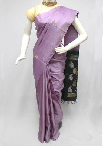 Light Violet With Green Soft Silk Saree -FQ111173 ARRS Silks