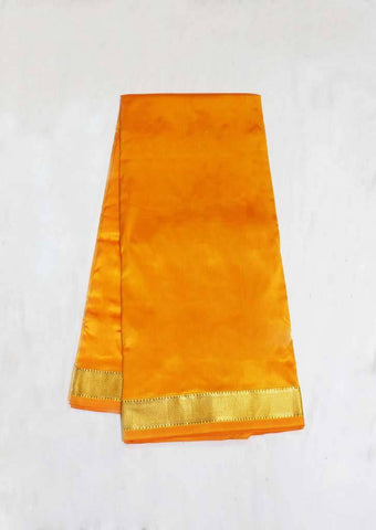 Mango Yellow Color 9.5 Yards Silk Saree - EX1057 ARRS Silks