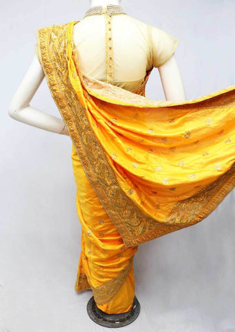 Mango Yellow Designer Saree  - FS26426 ARRS Silks