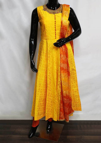 Mango Yellow Readymade Salwar- FV12239 ARRS Silks