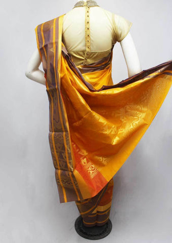 Mango Yellow Silk Cotton Saree - FR27928 ARRS Silks