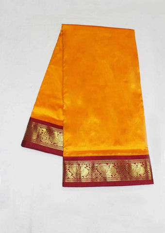Mango Yellow with Maroon Color 9.5 Yards Silk Saree - FP3784 ARRS Silks