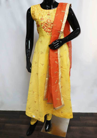 Mango Yellow with Orange Readymade Salwar-FU47100 ARRS Silks