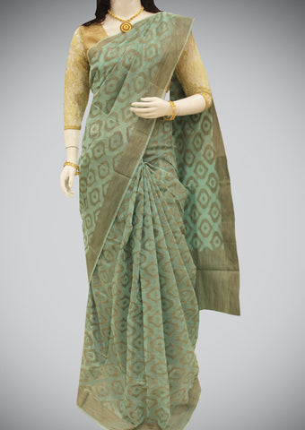 Green Manipuri Cotton Saree
