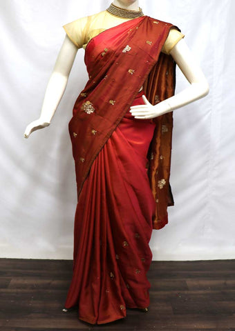 Maroon Color Designer Saree - FR83182 ARRS Silks