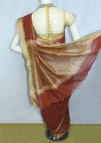 Maroon Fancy Cotton Saree - FO77897 ARRS Silks