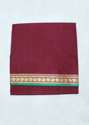 Maroon Pure Cotton 9.5 yards Saree - F096376 ARRS Silks