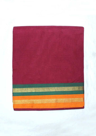 Maroon Pure Cotton 9.5 yards Saree - FP54200 ARRS Silks
