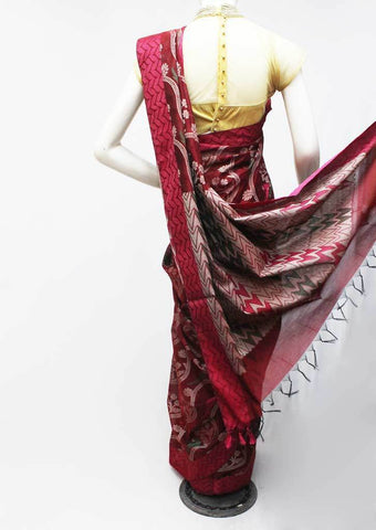 Maroon Silk Cotton Saree - FP39754 ARRS Silks