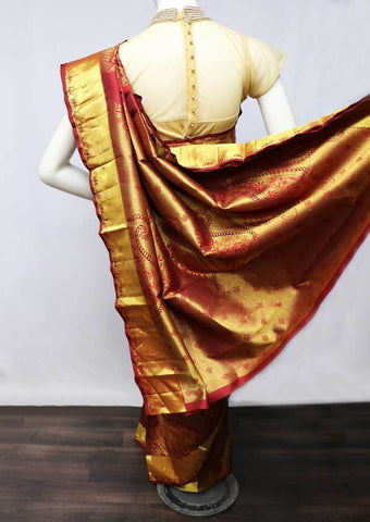 Maroon  Wedding Silk Saree - FS13413 ARRS Silks