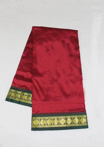 Maroon with Dark Green Color 9.5 Yards Silk Saree - FP3786 ARRS Silks