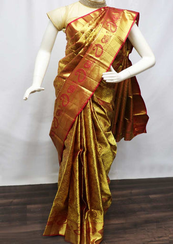 Maroon With Golden Pattu Saree - FF17626 ARRS Silks