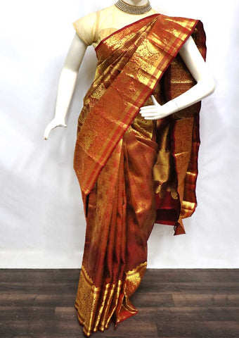 Maroon With Golden Wedding Silk Saree - FU73560 ARRS Silks