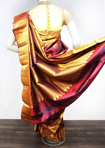 Maroon with Naaval Shade Wedding Silk Saree - EE12938 ARRS Silks