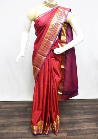 Maroon with Violet Semi Silk Saree - FT5121 ARRS Silks