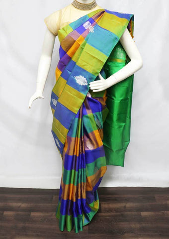 Multi color Checked Kanchipuram Silk Saree -9KA6261 ARRS Silks