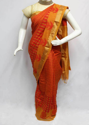 Multi Color Checked Silk Cotton Saree - FP48963 ARRS Silks