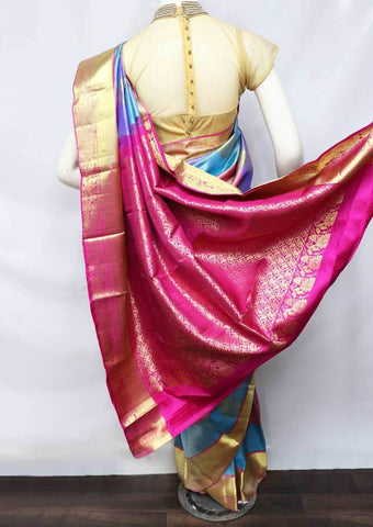 Multi Color Kanchipuram Silk Saree -EZ16011 ARRS Silks