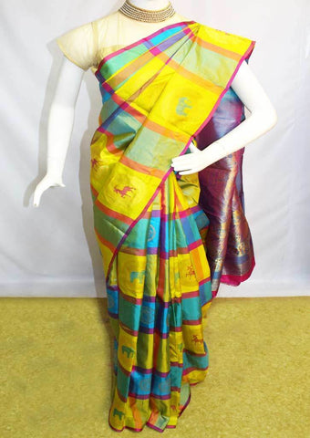 Multi Color Kanchipuram Silk Saree-FH1944 ARRS Silks