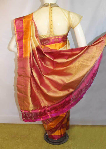 Multi color  Kanchipuram Silk Saree-FM92080 ARRS Silks
