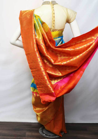 Multi Color Kanchipuram Silk Saree -FV5234 ARRS Silks