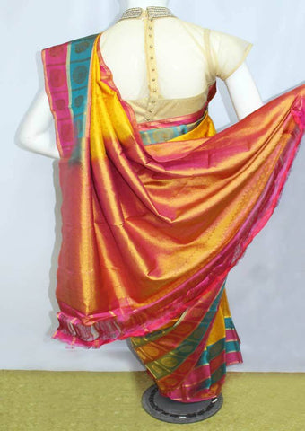 Multi Color Kanchipuram Silk Saree-HAX4965 ARRS Silks