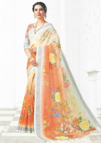 Multi Color Linen Saree - FO97705 ARRS Silks