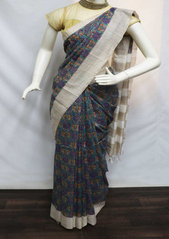 Multi Color Linen Saree - GC2144 ARRS Silks