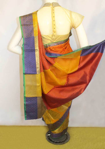 Multi Color Organza Cotton Sarees- FP10487 ARRS Silks