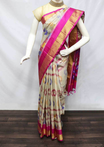 Multi color Pochampally Silk Saree - FU45198 ARRS Silks