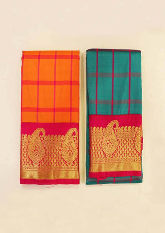 Multi Color semi silk saree (BUY1 GET1) - FZ16500,FZ16658 ARRS Silks