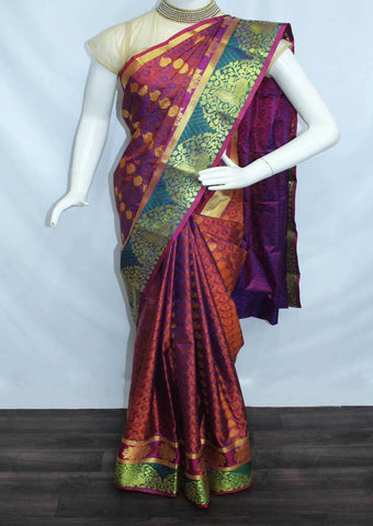 Multi Color Semi Silk Saree- FL6624 ARRS Silks