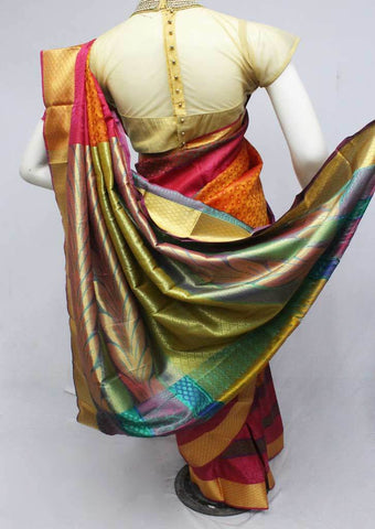 Multi color Semi Silk Saree- FQ115778 ARRS Silks