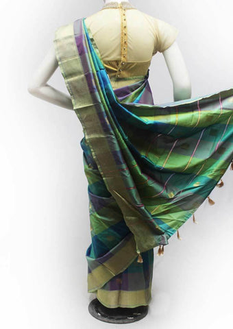 Multi Color Semi Silk Saree- FQ138735 ARRS Silks