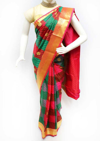 Multi Color Semi Silk Saree- FS43918 ARRS Silks