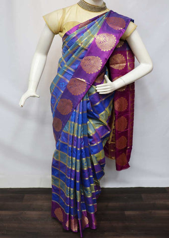 Multi Color Semi Silk Saree  - GC58924 ARRS Silks