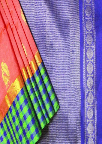 Multi color Silk cotton Saree - FL39148 ARRS Silks
