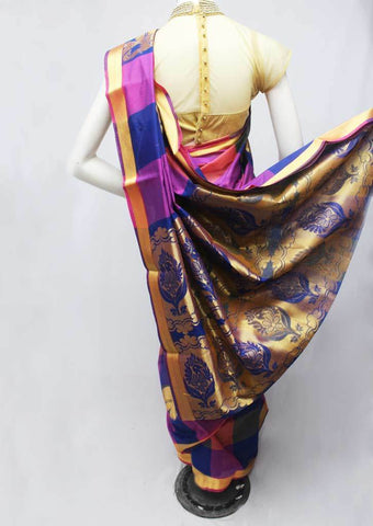 Multi Color Silk Cotton Saree - FR27936 ARRS Silks