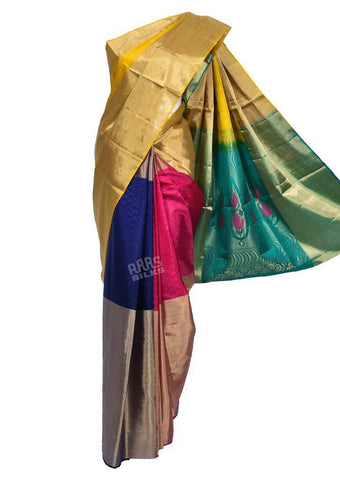 Multi Color Soft Silk Saree -FQ38996 ARRS Silks