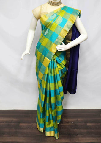 Multi Color Soft Silk Saree - FU45125 ARRS Silks