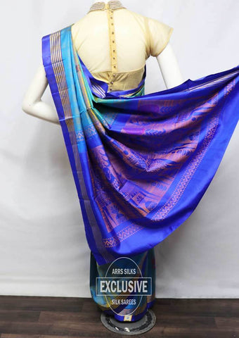 Multi Color Soft Silk Saree - FU45371 ARRS Silks