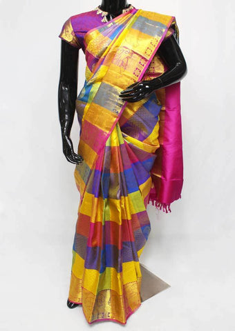 Multi Color  Wedding Silk Saree - FF16744 ARRS Silks