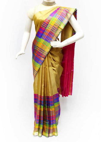 Multi color with Pink Soft Silk Saree - EZ16667 ARRS Silks