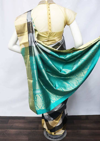Multi Color with Sky Blue Soft Silk Saree - FU45067 ARRS Silks