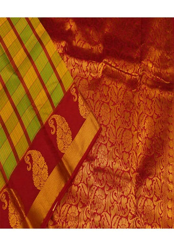 Multi Colour Kanchipuram Silk Saree-FD7790 ARRS Silks