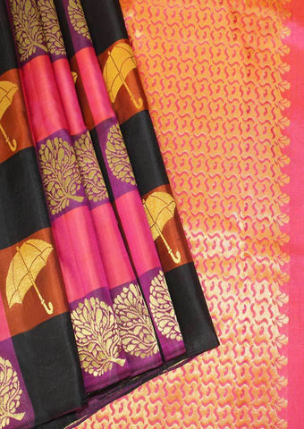 Multi Colour Kanchipuram Silk Saree - FI16566 ARRS Silks