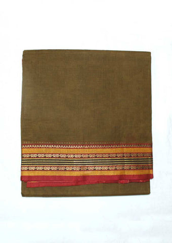 Mustard Green Pure Cotton 9.5 yards Saree - FP54204 ARRS Silks