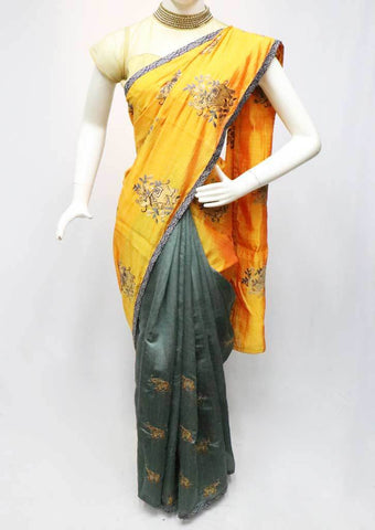 Mustard Orange Sana Silk Saree-FO6099 ARRS Silks