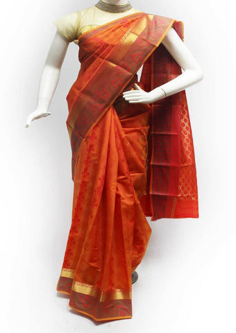 Mustard Orange Semi Silk Saree- FR96748 ARRS Silks